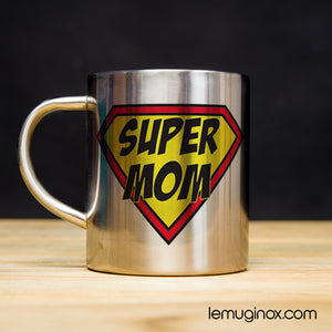 Tasse en inox Super Mom