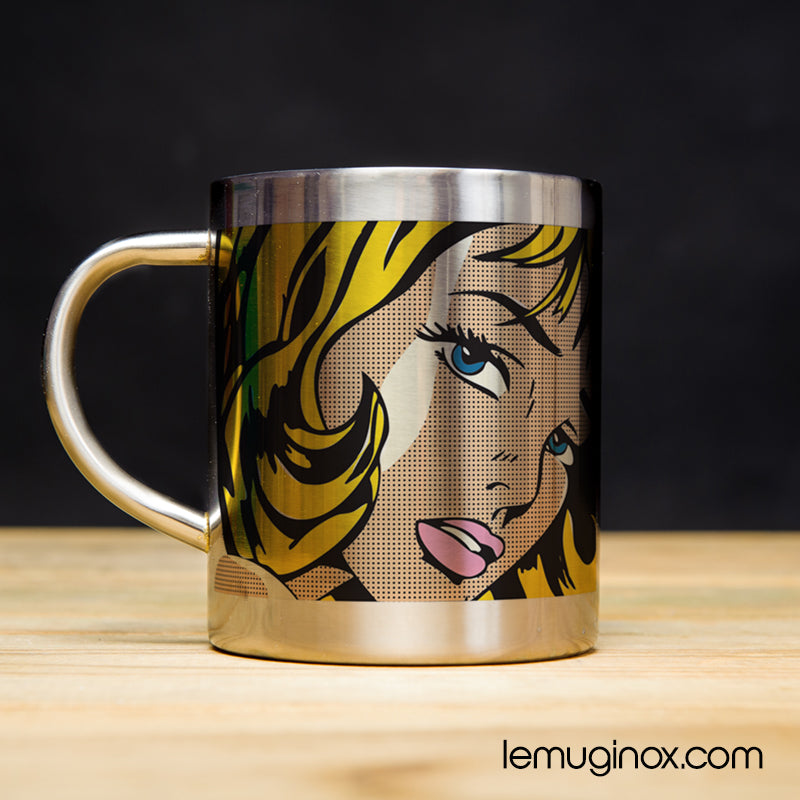 tasse en inox Pop Art