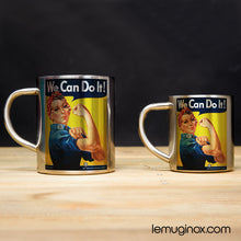 Charger l'image dans la galerie, Tasse et mug en inox We can do it!