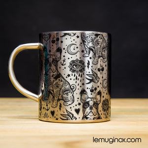 Tasse en Inox Bouledogue tattoo