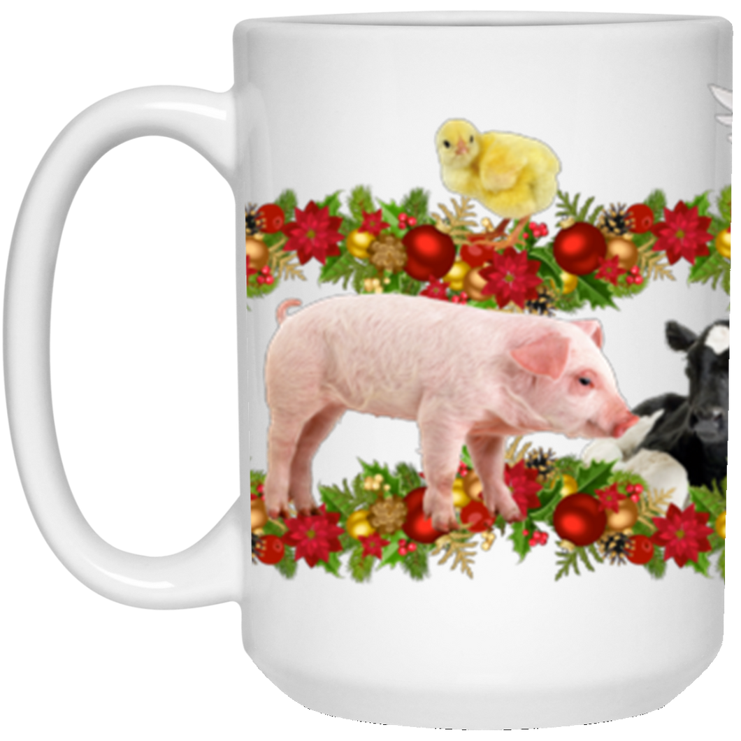 15 oz. Coffee Mug - HOLIDAY FARM ANIMALS