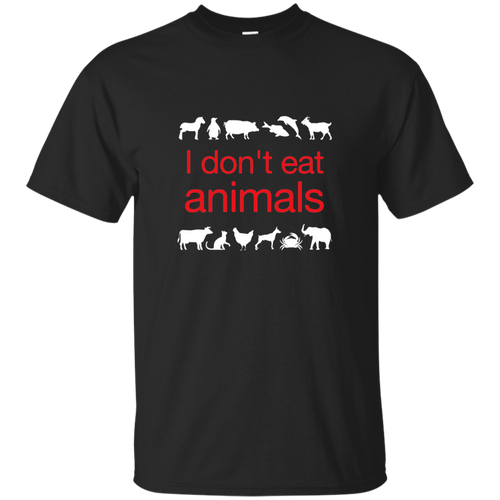 I Don't Eat Animals (red) - Unisex Ultra Cotton T-Shirt
