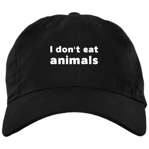 I Don't Eat Animals - Brushed Twill Unstructured Dad Cap