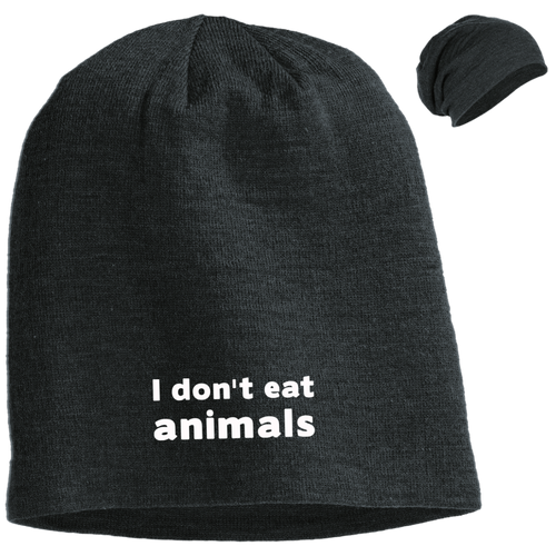 I Don't Eat Animals - Slouch Beanie Cap