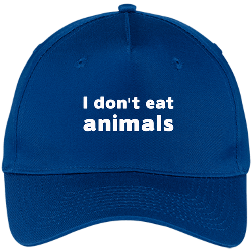 I Don't Eat Animals - Five Panel Twill Cap