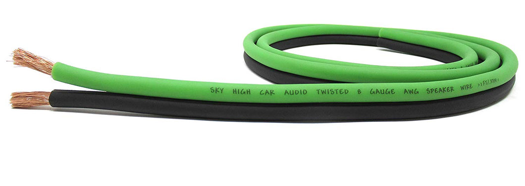 SKY HIGH CAR AUDIO 8G SPEAKER WIRE 100FT