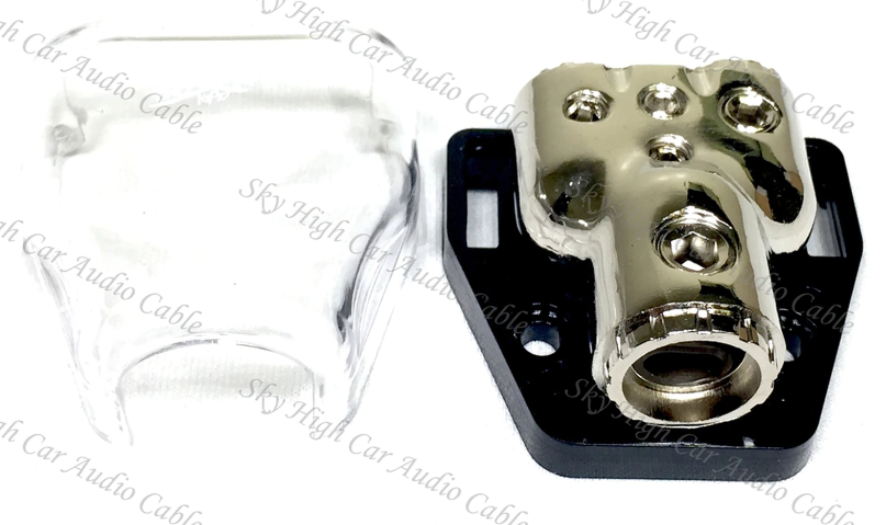 SKY HIGH CAR AUDIO DISTRIBUTION BLOCK 1/0 OR 4G TO (2) 4/8G W/ COVER