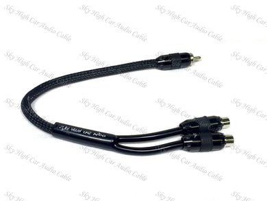 SKY HIGH CAR AUDIO PREMIUM Y SPLITTER RCA'S