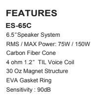 "ES65C 6.5"" Full Range Mid (Sold as a pair)"