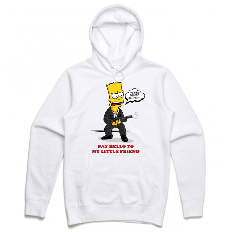 Scarface Bart White Hoodie (Bootleg Collection)