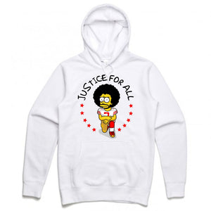Kap Bart White Hoodie (Bootleg Collection)