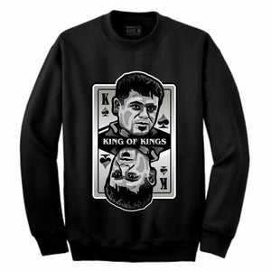 King of Kings Chapo Black Crewneck (Deck of Cards Collection)
