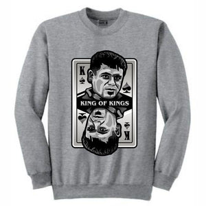 King of Kings Chapo Grey Crewneck (Deck of Cards Collection)
