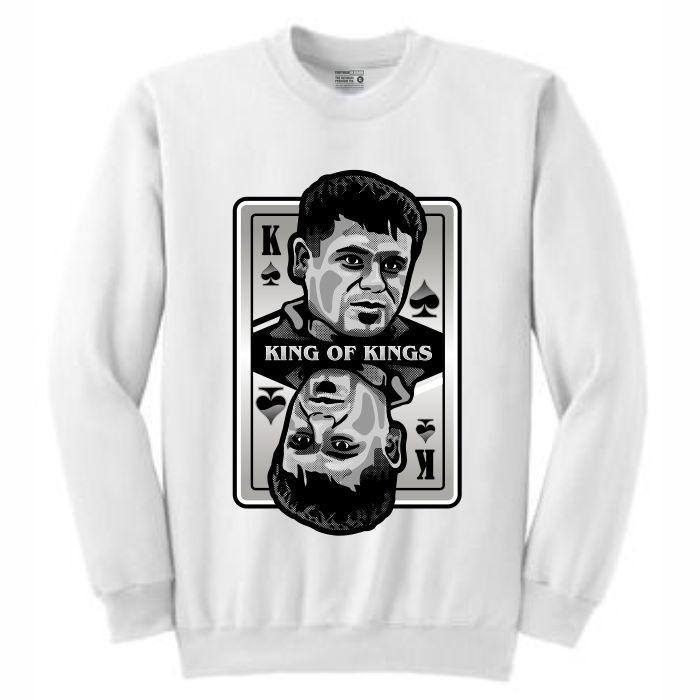 King of Kings Chapo White Crewneck (Deck of Cards Collection)