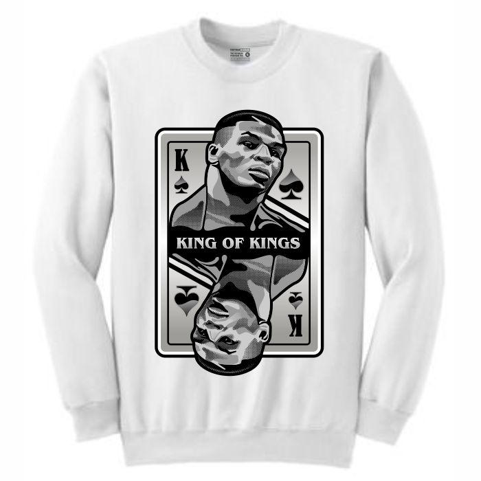 King of Kings Tyson White Crewneck (Deck of Cards Collection)