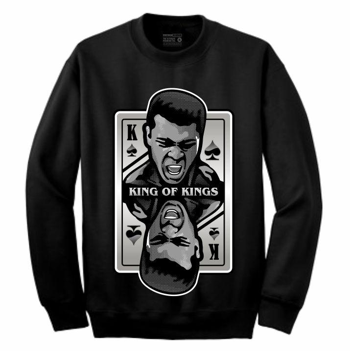 King of Kings Ali Black Crewneck (Deck of Cards Collection)
