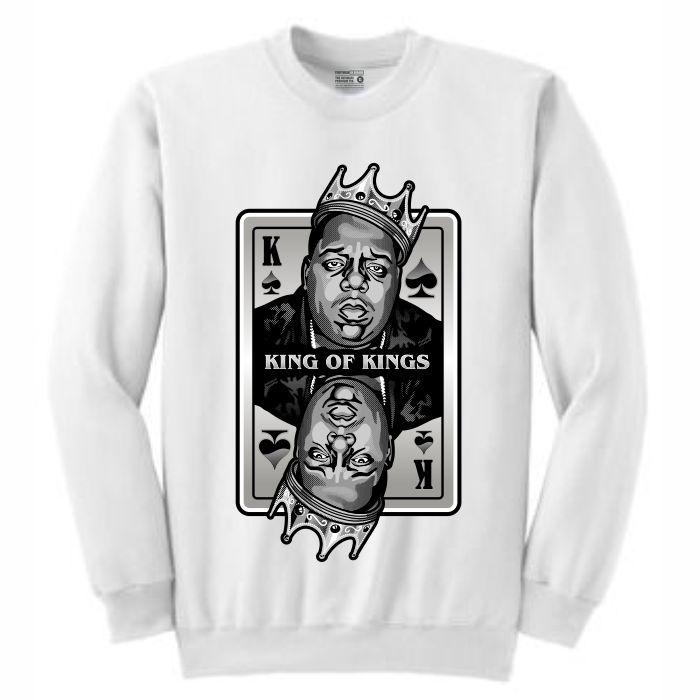 King of Kings Biggie White Crewneck (Deck of Cards Collection)