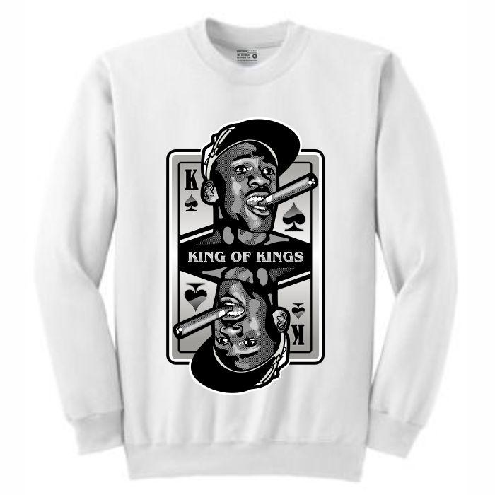 King of Kings MJ White Crewneck (Deck of Cards Collection)