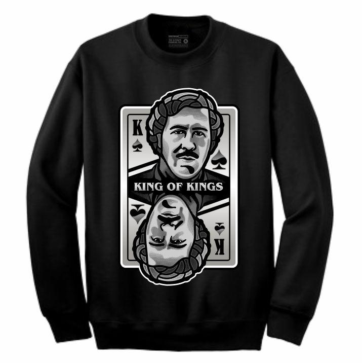 King of Kings Pablo Black Crewneck (Deck of Cards Collection)