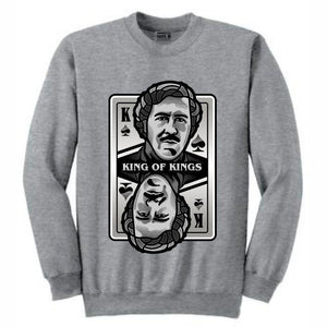 King of Kings Pablo Grey Crewneck (Deck of Cards Collection)