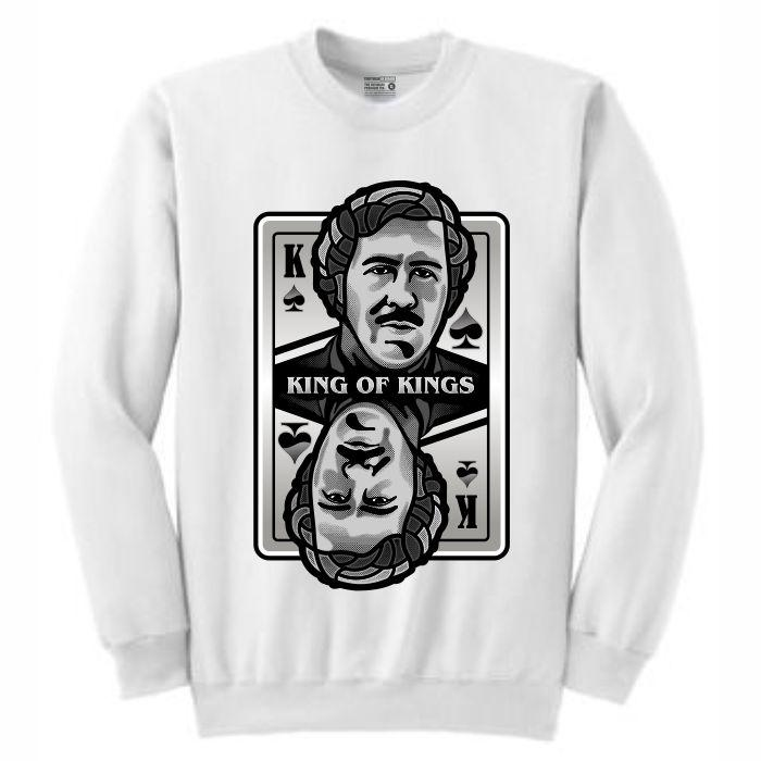 King of Kings Pablo White Crewneck (Deck of Cards Collection)