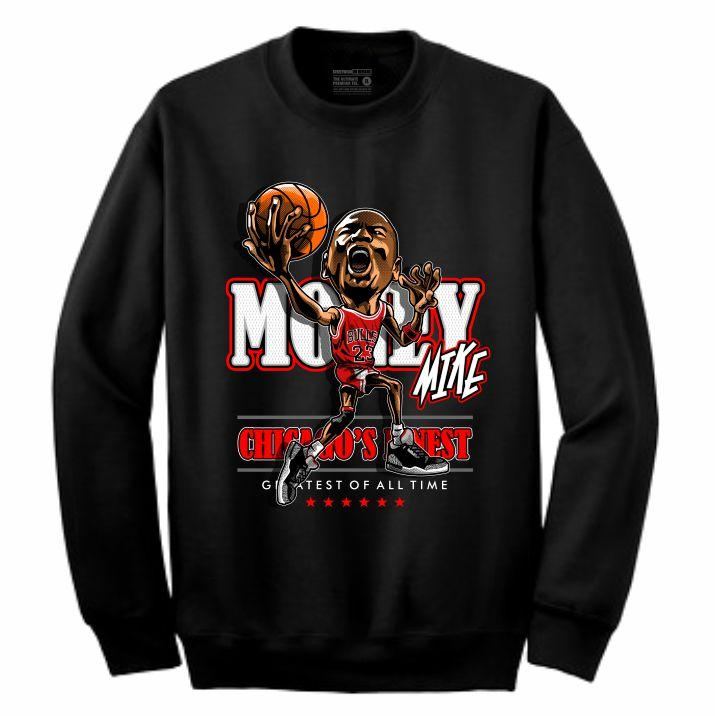 MJ Black Crewneck (Caricature Collection)