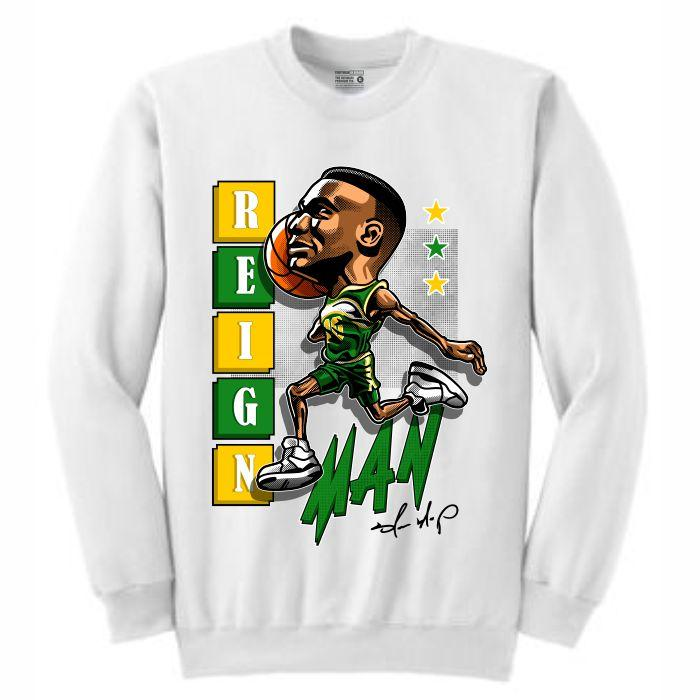 ReignMan White Crewneck (Caricature Collection)