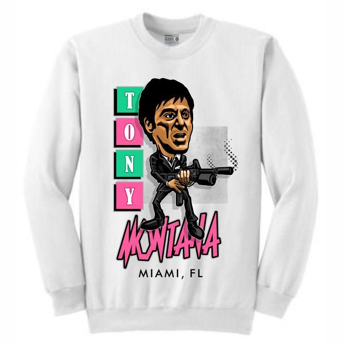 Scarface White Crewneck (Caricature Collection)
