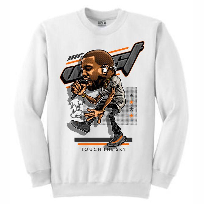 YZY White Crewneck (Caricature Collection)