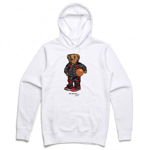 MJ White Hoodie (Bear Collection)