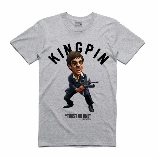 Scarface Grey T-Shirt (Toons Collection)