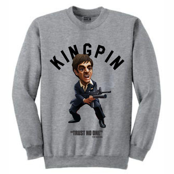 Scarface Grey Crewneck (Toons Collection)