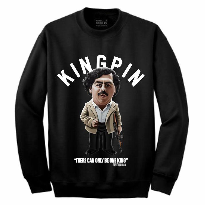 Pablo Black Crewneck (Toons Collection)