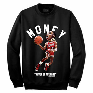 MJ Black Crewneck (Toons Collection)