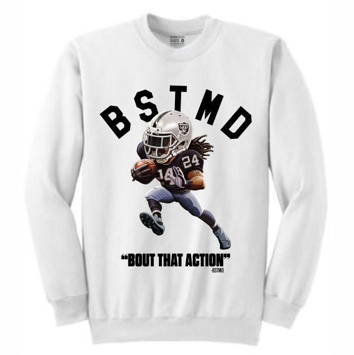 Beastmode White Crewneck (Toons Collection)