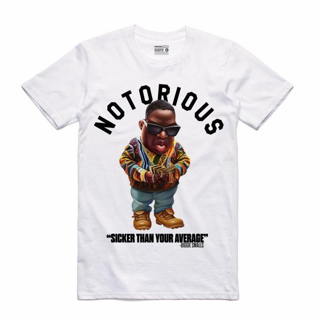 Biggie White T-Shirt (Toons Collection)