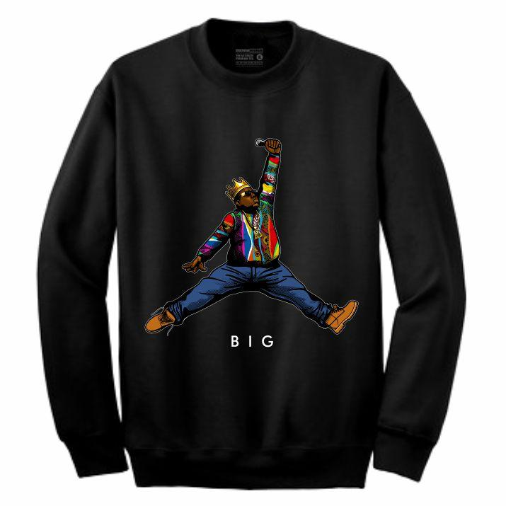 Biggie Black Crewneck (JMPMN Collection)