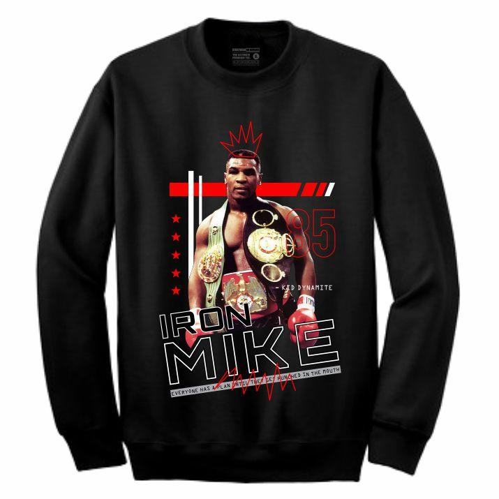 Iron Mike Black Crewneck (Mixed Media Collection)