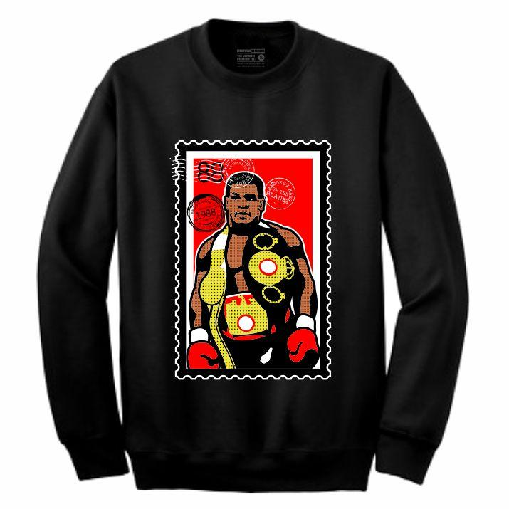 Iron Mike Black Crewneck (Stamp V1 Collection)