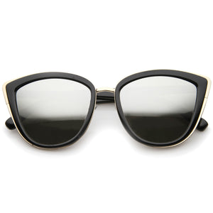 Oversize Women's Flash Mirror Lens Cat Eye Sunglasses A286