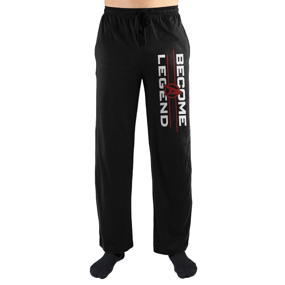 Become A Legend Marvel Sleep Pants Mens Avengers Sweatpants