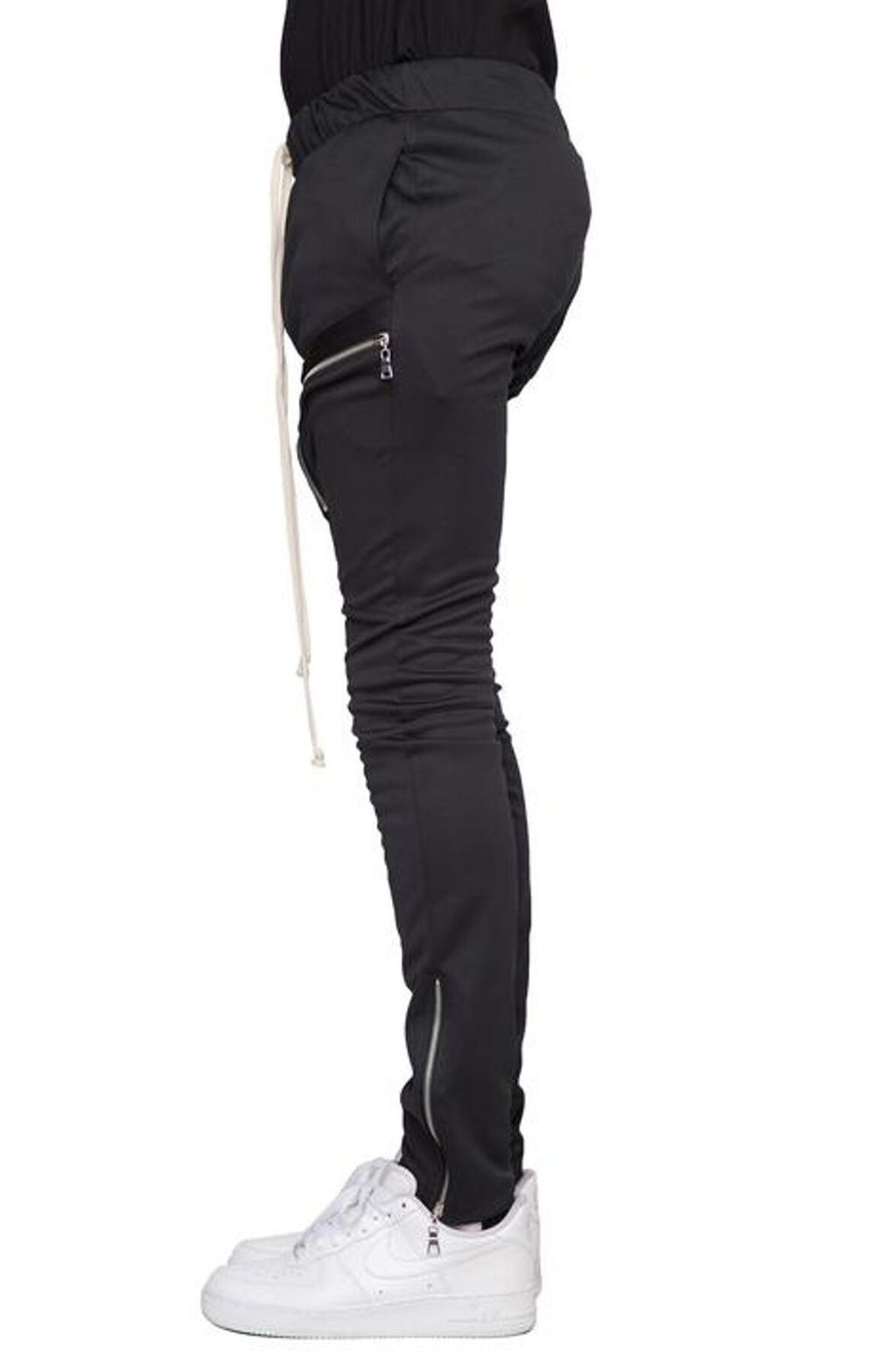 BLACK-ZIP CARGO PANTS V2