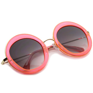 Women's Retro Penta Cut Gradient Lens Sunglasses A135