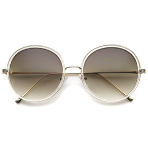 Women's Retro Indie Slim Round Sunglasses A147