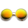 Women's Retro Oversize Color Burned Mirror Lens Sunglasses A172
