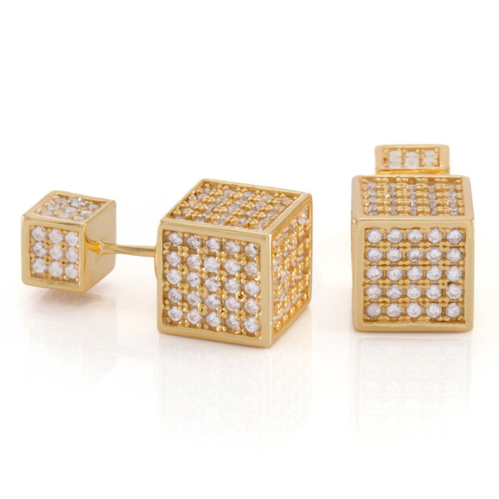 The 14K Gold .925 Sterling Silver Cubist Earrings