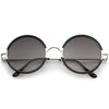 Retro Modern Round Slim Temple Sunglasses A727