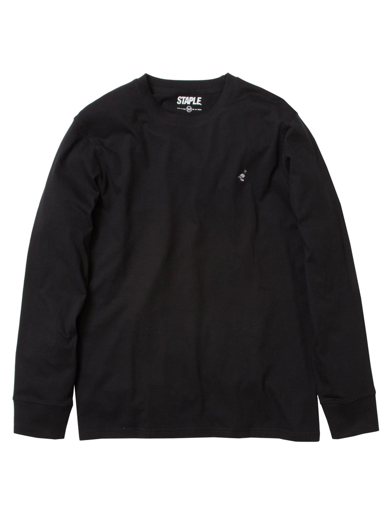 Pigeon Embroidered L/S Tee