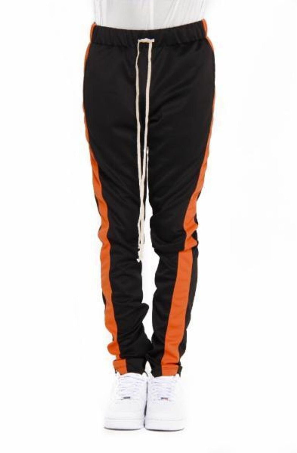 BLACK/ORANGE-Track Pants