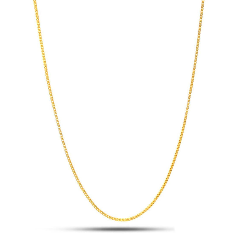 1MM King Ice 14K Gold Box Chain